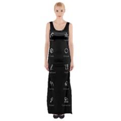 Art Desktop Icons Vector Clipart Maxi Thigh Split Dress by Nexatart