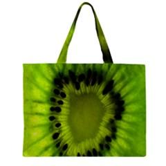 Kiwi Fruit Slices Cut Macro Green Zipper Mini Tote Bag by Alisyart