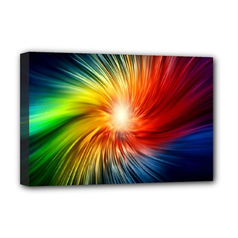 Lamp Light Galaxy Space Color Deluxe Canvas 18  X 12   by Alisyart
