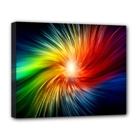 Lamp Light Galaxy Space Color Deluxe Canvas 20  X 16   by Alisyart
