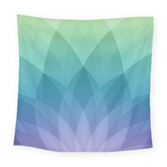 Lotus Events Green Blue Purple Square Tapestry (large) by Alisyart