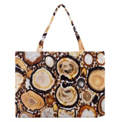 Natural Agate Mosaic Medium Zipper Tote Bag by Alisyart
