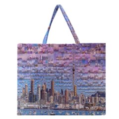 Auckland Travel Zipper Large Tote Bag by Nexatart