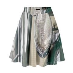 Auto Automotive Classic Spotlight High Waist Skirt by Nexatart