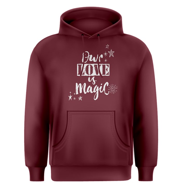 Red our love is magic Men s Pullover Hoodie