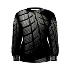 Auto Black Black And White Car Women s Sweatshirt