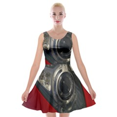 Auto Red Fast Sport Velvet Skater Dress by Nexatart