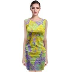 Backdrop Background Abstract Classic Sleeveless Midi Dress