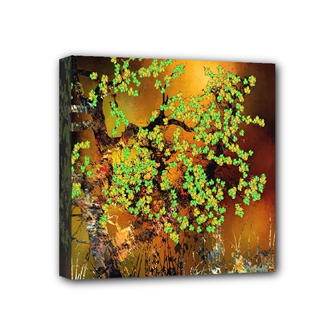 Backdrop Background Tree Abstract Mini Canvas 4  x 4
