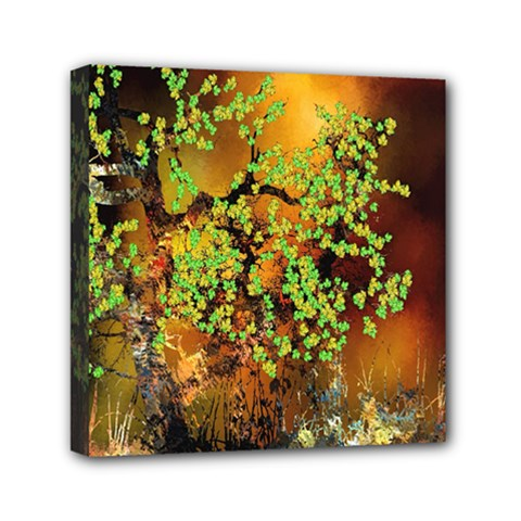Backdrop Background Tree Abstract Mini Canvas 6  x 6
