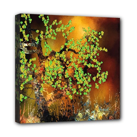 Backdrop Background Tree Abstract Mini Canvas 8  x 8