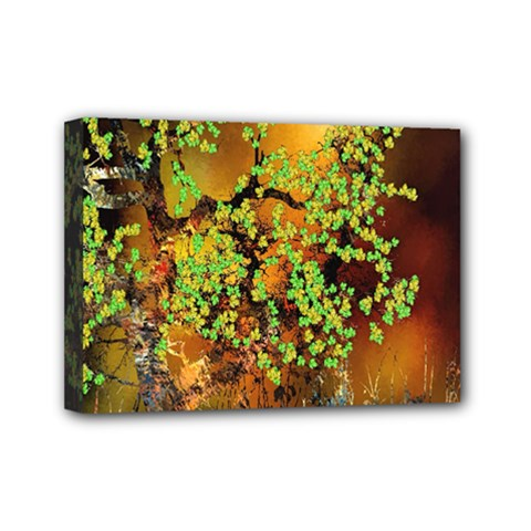 Backdrop Background Tree Abstract Mini Canvas 7  x 5