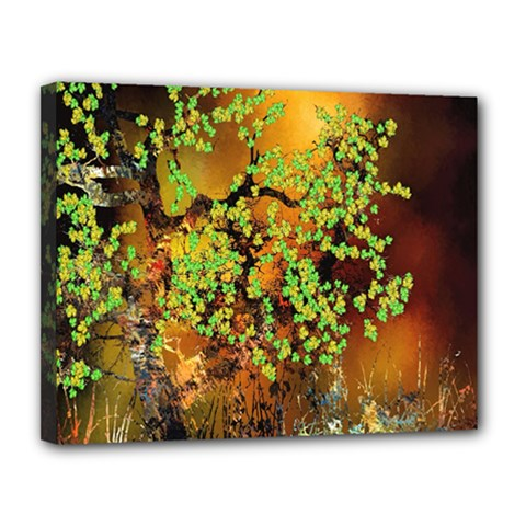 Backdrop Background Tree Abstract Canvas 14  x 11