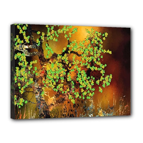 Backdrop Background Tree Abstract Canvas 16  x 12
