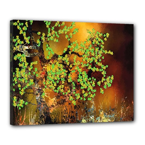 Backdrop Background Tree Abstract Canvas 20  x 16