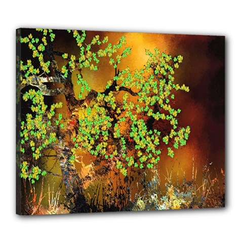 Backdrop Background Tree Abstract Canvas 24  x 20