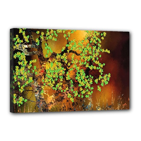 Backdrop Background Tree Abstract Canvas 18  x 12
