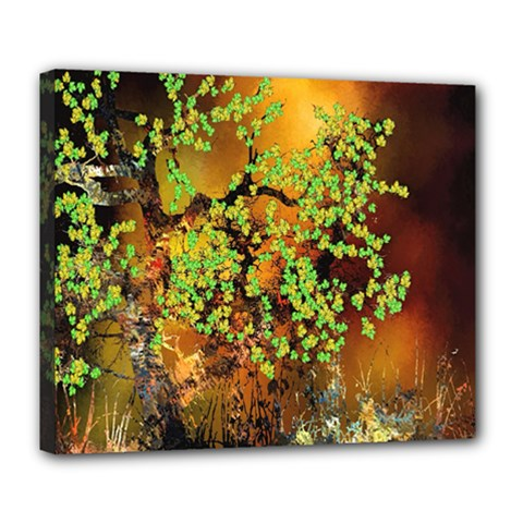 Backdrop Background Tree Abstract Deluxe Canvas 24  x 20