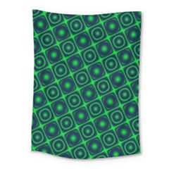 Plaid Green Light Medium Tapestry by Alisyart