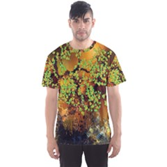 Backdrop Background Tree Abstract Men s Sport Mesh Tee