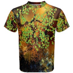 Backdrop Background Tree Abstract Men s Cotton Tee