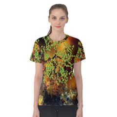 Backdrop Background Tree Abstract Women s Cotton Tee