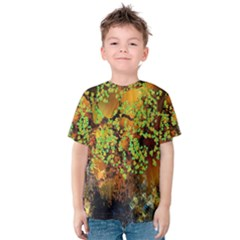 Backdrop Background Tree Abstract Kids  Cotton Tee