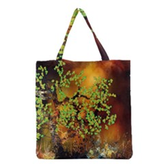 Backdrop Background Tree Abstract Grocery Tote Bag