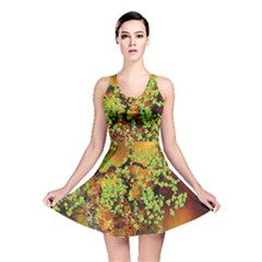 Backdrop Background Tree Abstract Reversible Skater Dress