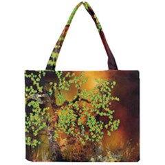 Backdrop Background Tree Abstract Mini Tote Bag