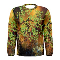 Backdrop Background Tree Abstract Men s Long Sleeve Tee