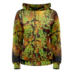 Backdrop Background Tree Abstract Women s Pullover Hoodie