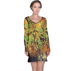 Backdrop Background Tree Abstract Long Sleeve Nightdress