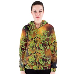 Backdrop Background Tree Abstract Women s Zipper Hoodie