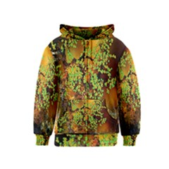Backdrop Background Tree Abstract Kids  Zipper Hoodie