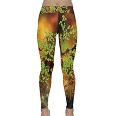 Backdrop Background Tree Abstract Classic Yoga Leggings