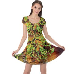 Backdrop Background Tree Abstract Cap Sleeve Dresses