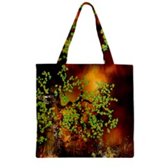 Backdrop Background Tree Abstract Zipper Grocery Tote Bag