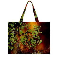 Backdrop Background Tree Abstract Zipper Mini Tote Bag