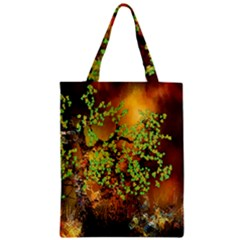 Backdrop Background Tree Abstract Zipper Classic Tote Bag