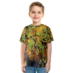 Backdrop Background Tree Abstract Kids  Sport Mesh Tee
