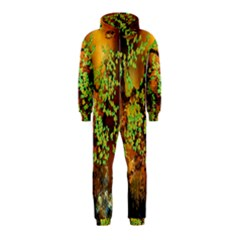 Backdrop Background Tree Abstract Hooded Jumpsuit (Kids)