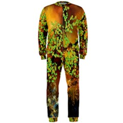 Backdrop Background Tree Abstract OnePiece Jumpsuit (Men)