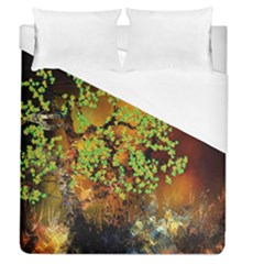 Backdrop Background Tree Abstract Duvet Cover (Queen Size)
