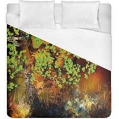 Backdrop Background Tree Abstract Duvet Cover (King Size)
