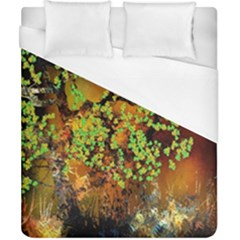 Backdrop Background Tree Abstract Duvet Cover (California King Size)