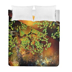 Backdrop Background Tree Abstract Duvet Cover Double Side (Full/ Double Size)