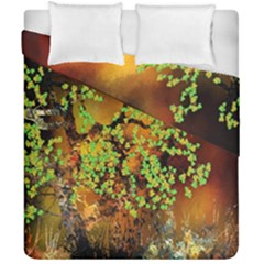 Backdrop Background Tree Abstract Duvet Cover Double Side (California King Size)