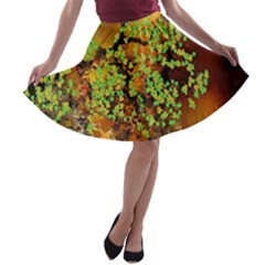Backdrop Background Tree Abstract A-line Skater Skirt