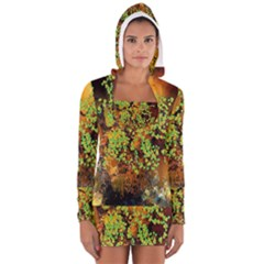 Backdrop Background Tree Abstract Women s Long Sleeve Hooded T-shirt
